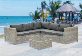 Comfortable Porch Furniture Patio Outdoor Wicker Furniture Waterproof Rattan Garden