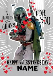wars valentines day boba fett s day card wars funky pigeon