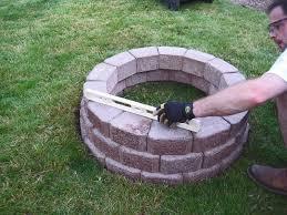 Easy Fire Pits by Wonderful Easy Brick Fire Pit Garden Landscape