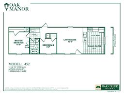 2 Bedroom 1 Bath Mobile Home Floor Plans Oak Creek Single Wides Call 210 887 2760
