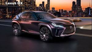 lexus suv older 2018 lexus ux concept the tiny luxury suv with big tech youtube