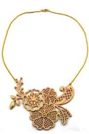 gold flower necklace designs images Gold flower pattern design collar necklace 004904 necklaces jpg