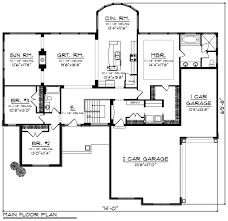 Smart House Plans Ranch Style House Plan 3 Beds 2 Baths 2449 Sq Ft Plan 70 1248