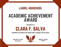 academic achievement award certificate templates by canva