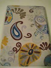 Shower Curtain See Through Paisley Vinyl Shower Curtains Ebay
