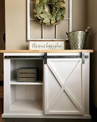 barn door side table best 25 barn door console ideas on pinterest tv stand sliding