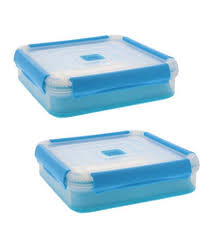 Cup Storage Containers - cool gear 14 cup expandable food storage container blue 2 pack