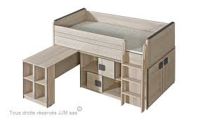 lit combiné bureau enfant lit enfant combine bureau 90x200 gum