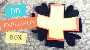 Make An Invitation Card Art And Craft Explosion Box Tutorial Basic How To Make An