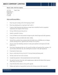 Resume Sample For Teller Position Essay Builder Template