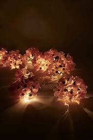 Flower String Lights by Hydrangea Flower String Lights In Pink Urban Outfitters Home