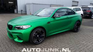 java green bmw green wrapped m2 in holland