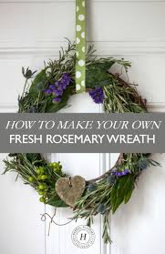 How To Make Wreaths How To Make Your Own Fresh Rosemary Wreath U2013 Herbal Academy