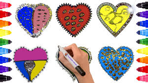 glitter heart coloring page heart coloring page playdoh house