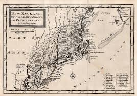 Map Of New England Colonies by 1700 U0027s Pennsylvania Maps