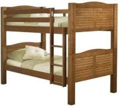 Linon Bunk Bed Linon 90066nn50 A Kd Shutter Bunk Bed Pecan Finish Constructed