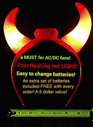 flashing light up mini devil horns great for halloween and ac dc