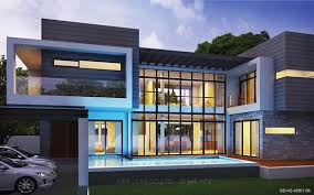 modern style home plans modern style 2 story home plans for construction in thai living