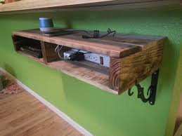 charging station shelf 27 diy charging station ideas to make more tidy cables pallets