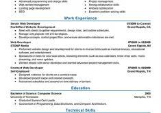 Web Developer Resume Pretty Web Developer Resume 7 Best It Web Developer Resume Example