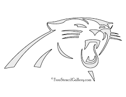 cartoon pumpkin stencil nfl carolina panthers stencil free stencil gallery