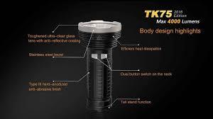 led len fã rs badezimmer fenix tk75 led flashlight 4 18650 or 8 cr123a led searchlight