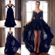aliexpress com buy asymmetrical a line lace prom dresses