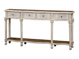 accent furniture gaultier aged white console table ruby gordon