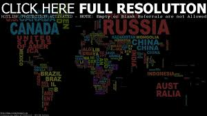 World Map Desktop Wallpaper by World Map Typography Walldevil