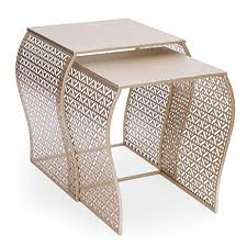 end table set of 2 amazon com adeco luxury modern metal golden accent nesting
