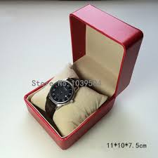 luxury bracelet box images Red leather watch box luxury brand watch storage box watch display jpg