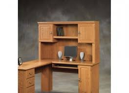 Home Computer Desks With Hutch Sauder Orchard 2 Door Computer Desk Hutch 402455 Regarding