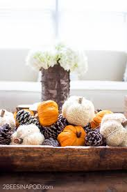easy fall centerpiece in minutes 2 bees in a pod