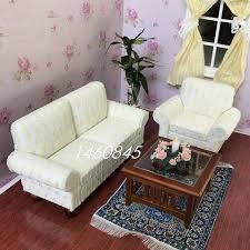 boutique de canapé dollhouse miniature de meubles accessoires boutique tissu salon mini