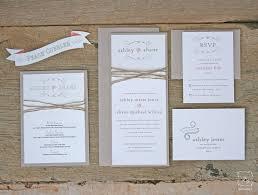 wedding invitation kits wedding invitation paper kits rustic twine wedding invitation set