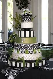 black and white wedding cakes special black and white and green wedding cakes food and drink