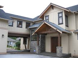 bellingham area custom home entry and facade home has attached