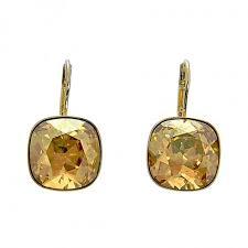 sheena pierced earrings swarovski sheena golden shadow pierced earrings 1144252