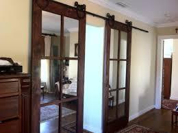 Interior Sliding Barn Doors For Homes by Mirror Sliding Closet Doors Solid Wood Doors Louvre Doors Lowes