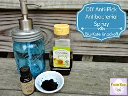 diy anti pick antibacterial blu kote knockoff spray for backyard