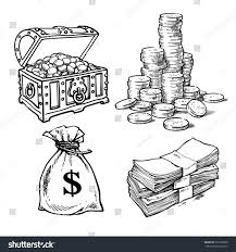 sketch style collection money symbols old stock vector 501616900