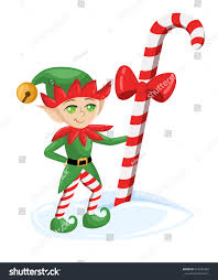 elf santa claus santas elves preparing stock vector 522934393