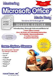 mastering microsoft office made easy training tutorial for v 2010