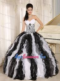 and black quinceanera dresses white and black quinceanera dress with zebra print bodice and