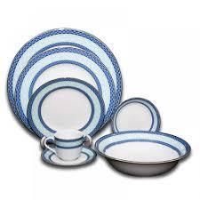 dinner set blue 2pl porcelain monno