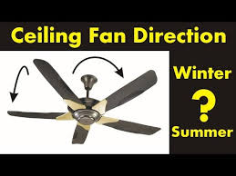 what direction for ceiling fan in winter ceiling fan direction in the winter and summer diy youtube