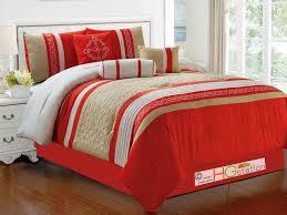 red plaid queen comforter set