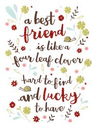 birthday card for best friends best friend like four leaf clover birthday card cards kates