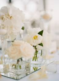 modern centerpieces modern white centerpieces elizabeth designs the wedding