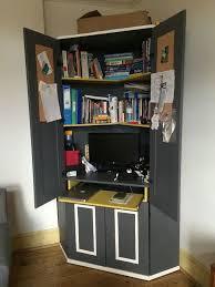 painted ikea alve corner desk cupboard workstation comes with